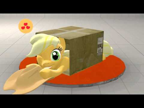 [SFM Ponies] Blue Team sliding into a box