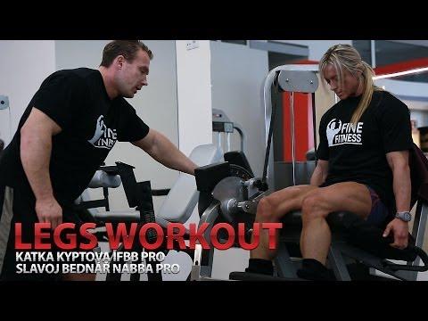 Katka Kyptova IFBB Pro Legs Workout