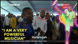 Watch Dr Malinga Sing After Prophet Shepherd Bushiri Gives Him A Microphone In Ecg