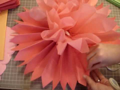 Tissue Pom Pom Tutorial and more!