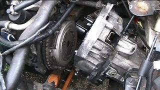 Front Wheel Drive car clutch replacement.