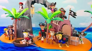Learn Colors with Paw Patrol Pirate Treasure Island Playmobile | Fizzy Fun Toys