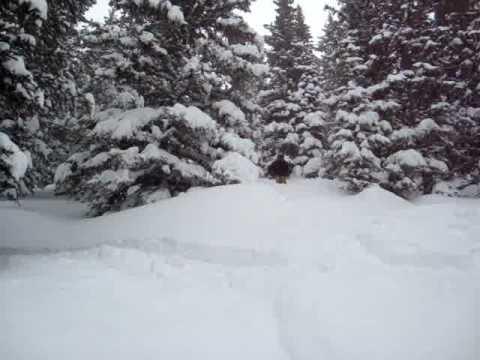 Adam skiing deep powder Alta chutes backcountry