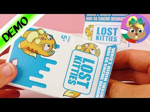 LOST KITTIES Ънбоксинг видео - ЗАГУБЕНИ КОТКИ В КУТИИ ЗА МЛЯКО   Изненада Плей До пластилин