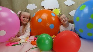 Learn Colors With Balloons for Children Kids. Learning Colours with Twins
