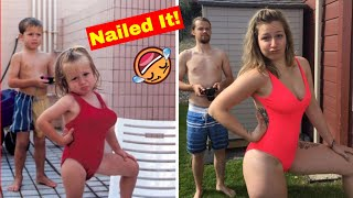 100 Times People Absolutely Nailed Their Family Photo Recreations