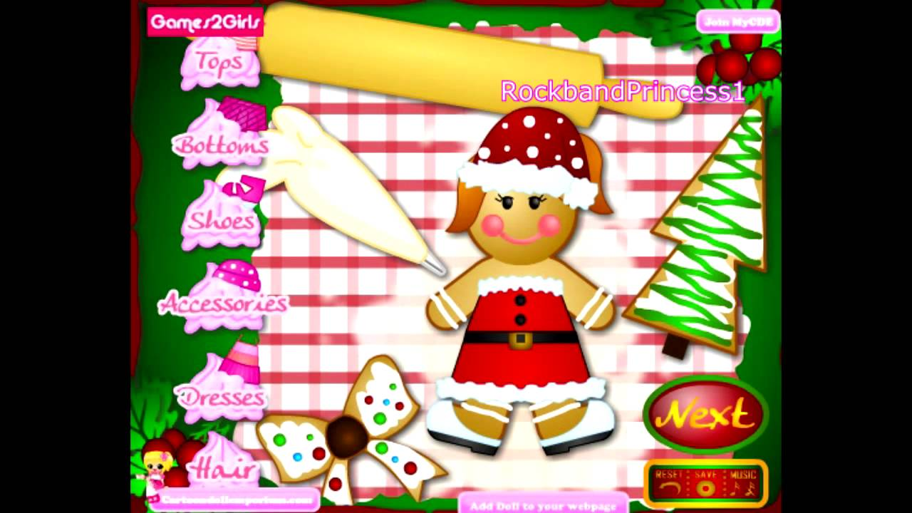 Christmas Games Online For Children To Play Ginger Bread