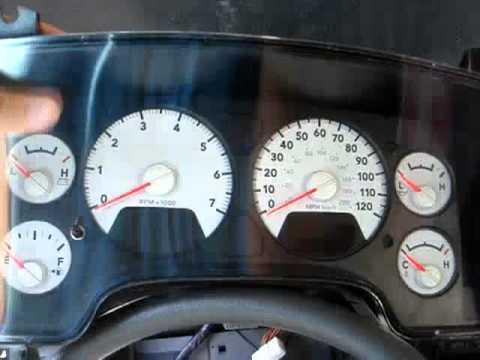 2008 Dodge Ram 1500 Gauge LED Light Color Change (part 1 of 2)