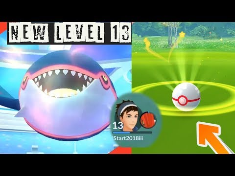 New Level 13 Catching Kyogre! How to critical Catch Legendary Pokemon?