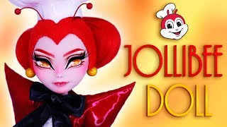Custom Jollibee Doll 🐝 [ FAST FOOD OOAK ]