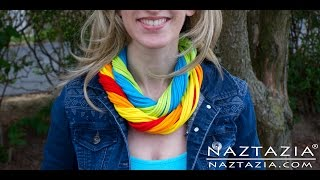 DIY Learn How to Make Easy T Shirt Necklace Infinity Scarf - Tshirt Crafts