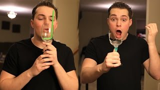BREAKING A WINE GLASS WITH MY VOICE