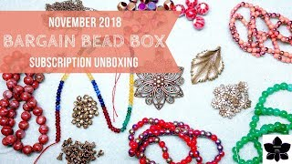 Bargain Bead Box Monthly Subscription Unboxing | Nov 2018 | Bead and Jewelry Making