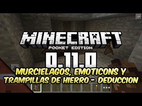 Noticias Minecraft PE 0.11.0 | Murciélagos, emoticons y trampillas de hierro (?) | Tommaso