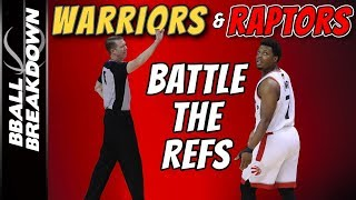 NBA Finals Game 2: Raptors Mad At Refs, So Are Warriors PART 2