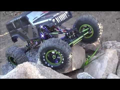 First run with the Exceed RC 1/8th scale Mad Torque Rock Crawler