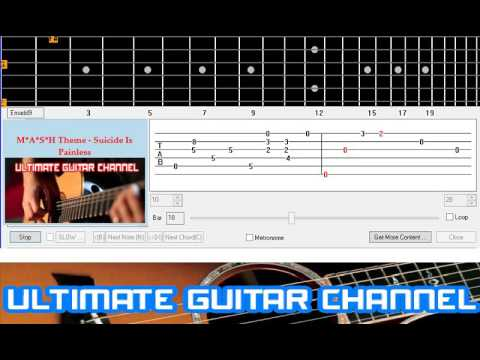 [Guitar Solo Tab] M*A*S*H Theme - Suicide Is Painless (Robert Altman)