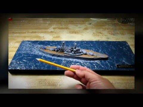 Building Hobby Boss USS Arizona. Pearl Harbor Day. From Start to Finish.
