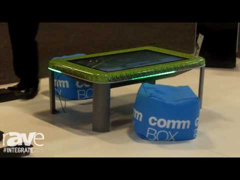 Integrate 2016: CommBOX Features New Range of Touch Screen Tables