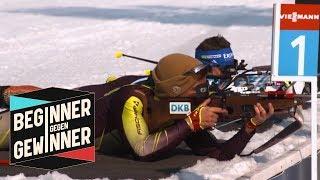 Biathlon: Zwei Handicaps für den Profi! Kann Joko gewinnnen?    Beginner gegen Gewinner   ProSieben