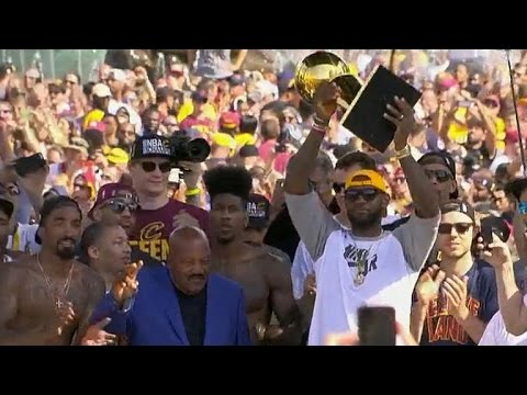 LeBron James' victory rally speech