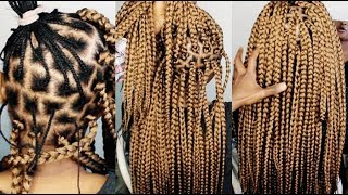 NO CORNROWS CROCHET BRAIDS ONLY (1 HOUR )- HOW TO