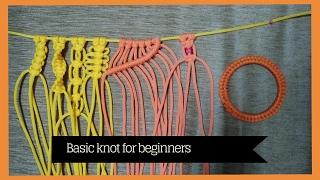 Basic macrame knots for Beginners | learn Macrame Art