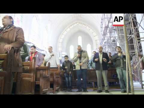 Cairo cathedral holds Coptic mass, as Egypt mourns beheadings