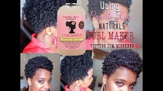 Wash and Go using Camille Rose Naturals CURL MAKER