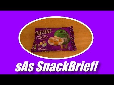 sAs SnackBrief!: M&Ms Vanilla Cupcake Flavor Review