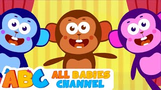 Five Little Monkeys Jumping on the Bed | Nursery Rhyme Song for Children