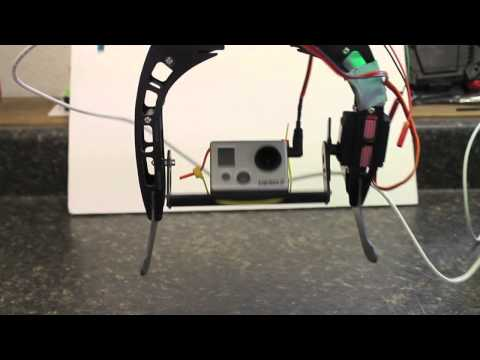 Naza Gimbal with Automatic and Manual Control Gains Using HobbyKing x550 Camera Mount