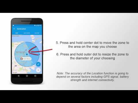 How to use the Safe Lagoon GPS Family Tracker and set up a GEO zone on Android