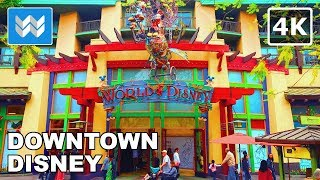 Walking around Downtown Disney in Anaheim, California 【4K】