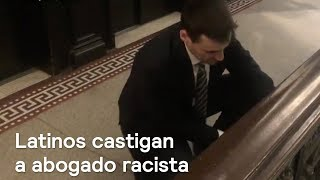 Llevan serenata y tacos al abogado racista de Nueva York  - En Punto con Denise Maerker