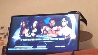 Roman rignes vs Booker t vs Neville vs John Cena