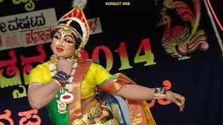 Yakshagana -- Bhasmasura Mohini - 3 - Santhosh kulashekar as Mohini