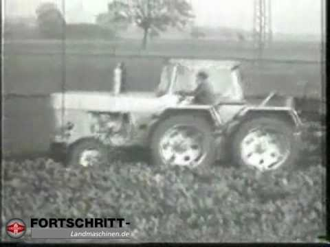 Fortschritt ZT 300 Prototyp mit Pendelachse bei der Rbenernte mit E 765