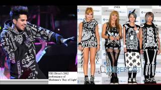 Adam Lambert and Kpop fashion (BigBang/G-Dragon bias) + 2NE1, EXO, SHINee, Junsu, Jokwon, f(x) Amber
