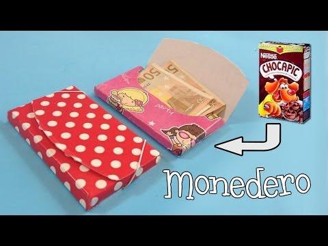 Monedero de cartón | Manualidades con reciclaje