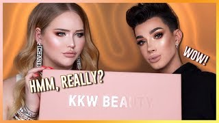 KIM KARDASHIAN: KKW Concealer Kits REVIEW ft. JAMES CHARLES!