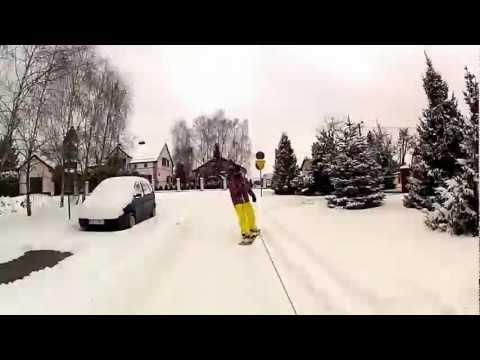GoPro street snowboard