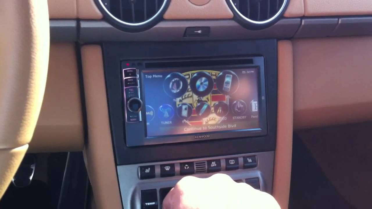 2008 Porsche Cayman Double Din Radio Install Youtube