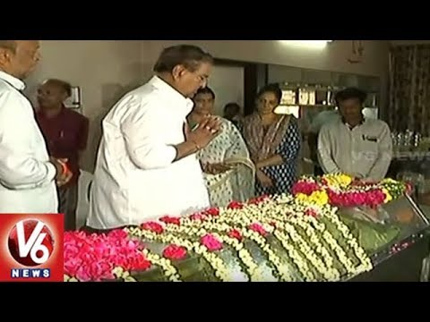 Telugu Film Industry Celebrities Pays Homage To Veteran Producer K Raghava | V6 News