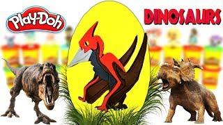 Huevo Sorpresa Gigante de Pterodáctilo Jurassic World 2 Plastilina Play doh Español