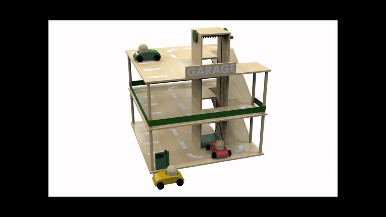 garage pour vos enfants fabriquer soi m me youtube. Black Bedroom Furniture Sets. Home Design Ideas