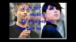 Download Lagu Vivo per lei con testo -Andrea Bocelli e Giorgia Gratis STAFABAND