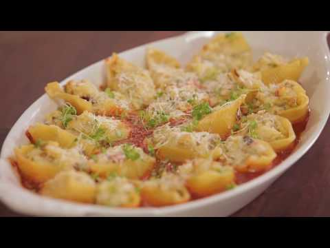 San Remo Pasta Recipes: Pasta Shells Filled with Chestnut, Pancetta and Goat's Curd