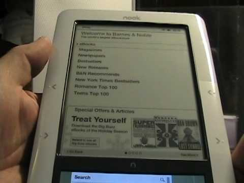 In-depth walk around the Barnes & Noble Nook ebook reader.