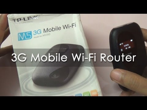 TP-LINK 3G Mobile WiFi Hotspot Router M5350 Overview